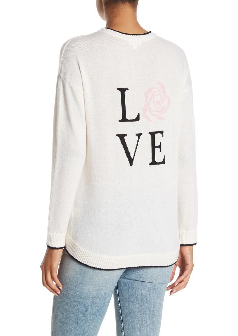 Minnie Rose Love Script Cashmere Knit Sweater