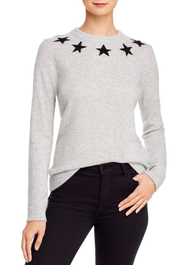 Minnie Rose Star Cashmere Sweater