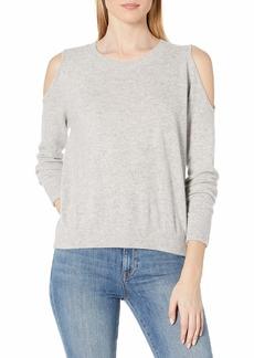 Minnie Rose Women's 100% Cashmere Cold Shoulder Sweater  S
