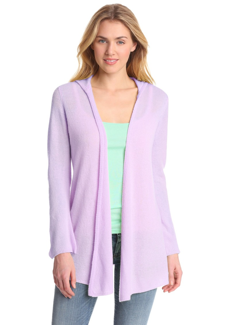 Minnie Rose Women's 100% Cashmere Hooded Duster Sweater