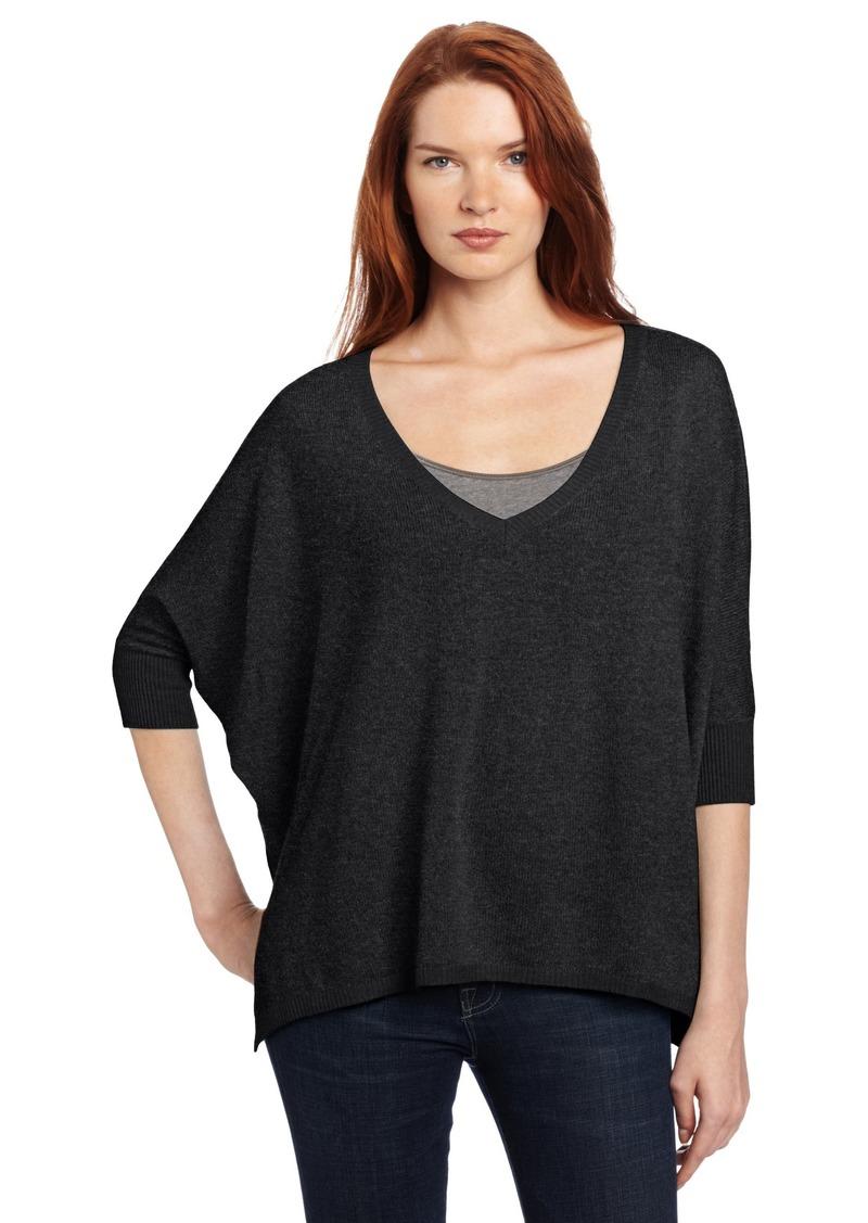 Minnie Rose Women's 100% Cashmere Pow Wow Sweater  Medium/Large