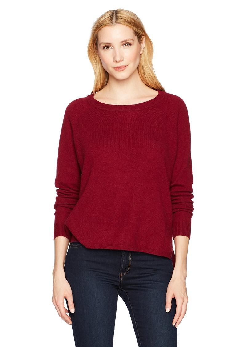 Minnie Rose Women's 100% Cashmere Raglan Hi Lo Sweater  L