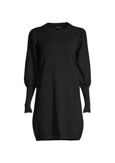 Minnie Rose Puff-Sleeve Knit Dress