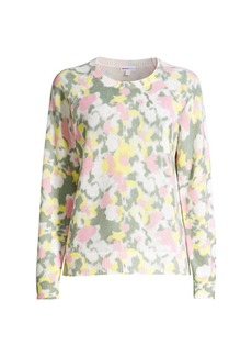 Minnie Rose Watercolor Cashmere Sweater