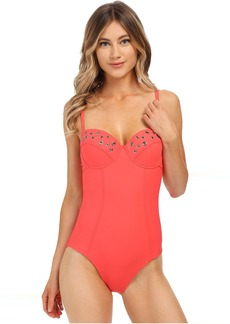 Amoressa by Miraclesuit Holey Moley Bust a Move One-Piece