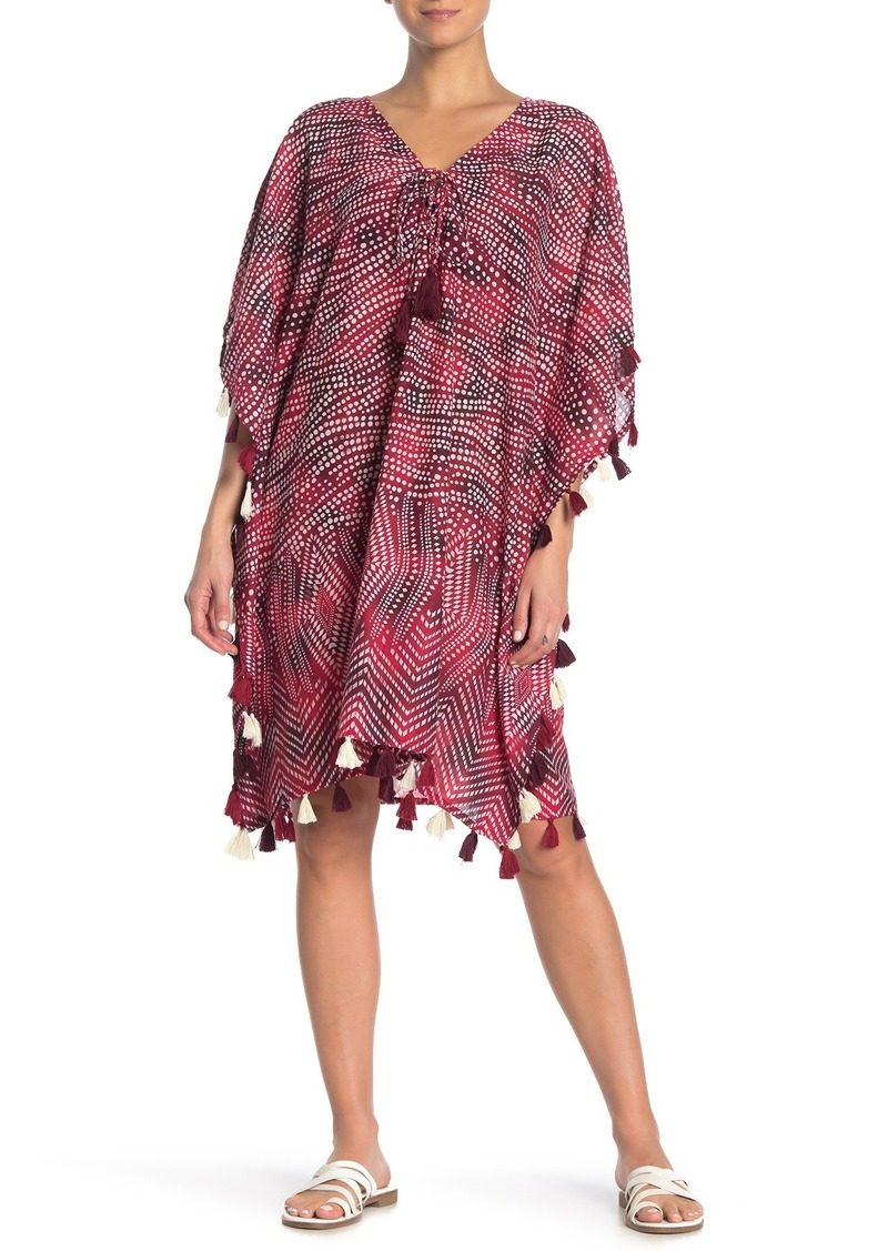 Miraclesuit Babylon Tassel Trim Kaftan Cover-Up Dress