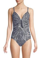 Miraclesuit Lush Lanai Pin Up One-Piece Swimsuit