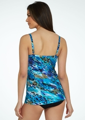 Miraclesuit + Blue Attitude Rosewell Tankini Top