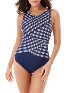 Miraclesuit® Belmont Stripe Underwire One-Piece Swimsuit