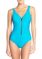 Miraclesuit® Front Zip One-Piece Swimsuit