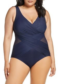 Miraclesuit® Illusionist Crossover One-Piece Swimsuit (Plus Size)