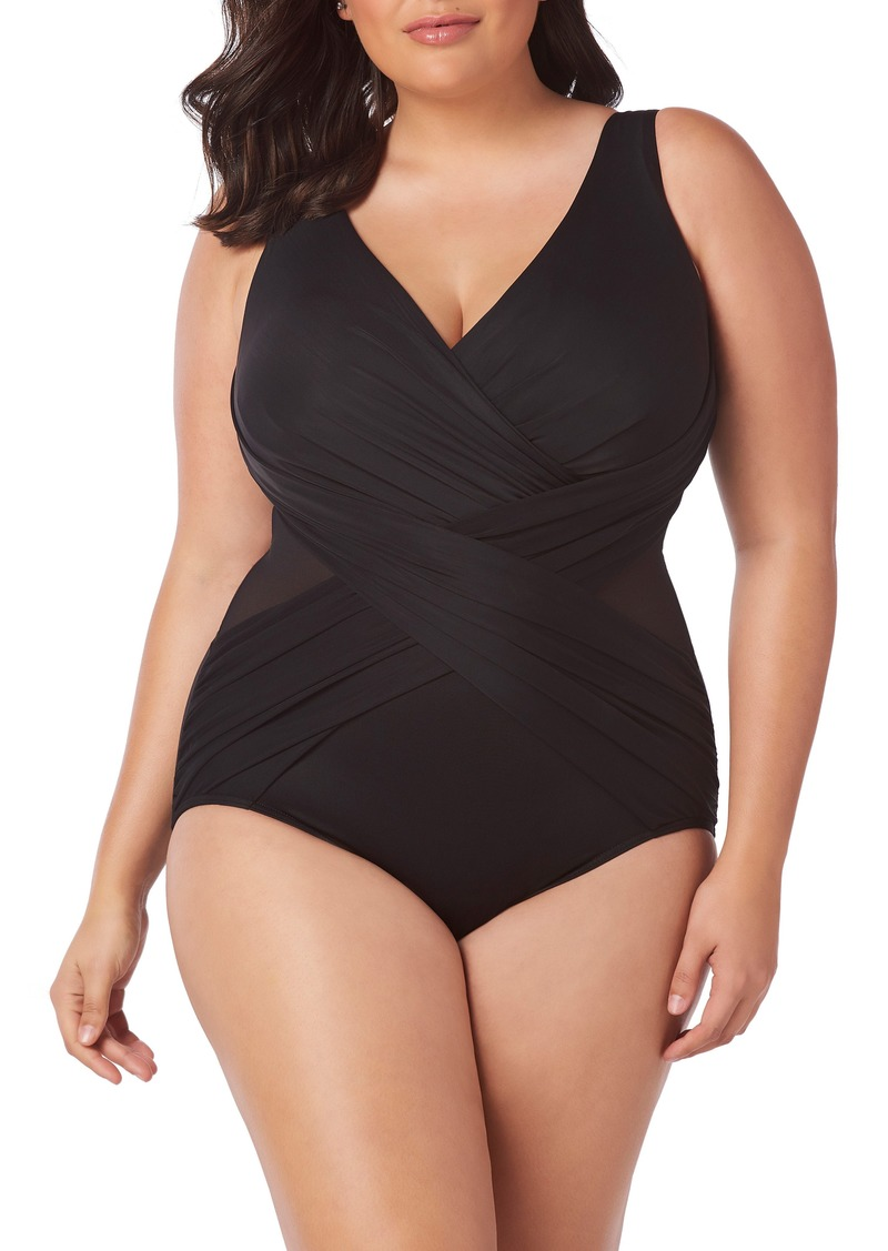 2c5b3cc0 Miraclesuit Miraclesuit® Illusionist Crossover One-Piece Swimsuit ...