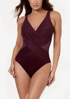 d8bf4451d68 Miraclesuit Illusionist Crossover Allover Slimming One-Piece Swimsuit  Women's Swimsuit