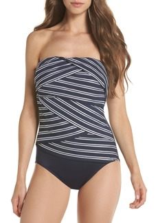 Miraclesuit® Lanai Stripe Muse Strapless One-Piece Swimsuit