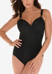 Miraclesuit Razzle Dazzle Twist-Front Underwire Allover Slimming One-Piece Swimsuit Women's Swimsuit