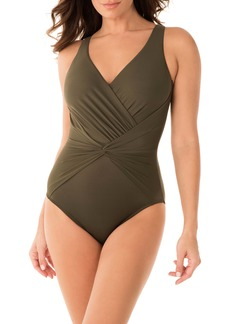 Miraclesuit® Rock Solid Twist Front One-Piece Swimsuit