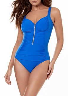 Miraclesuit® So Riche Zip Code One-Piece Swimsuit