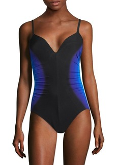 Miraclesuit Gulf Stream Temptation One-Piece Colorblock Swimsuit