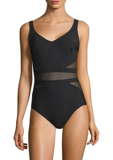 Miraclesuit Illusionists It's a Cinch Sheer-Panel Swimsuit