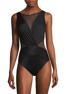 Miraclesuit Illusionists Palma Gathered One-Piece Swimsuit