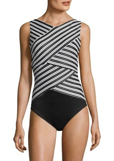 Miraclesuit Mayan Stripe Brio One-Piece Swimsuit