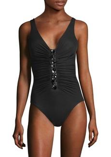 Miraclesuit Treasure Island Embellished Swimsuit