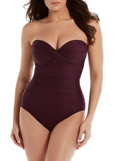 Miraclesuit(R) Rock Solid Madrid Bandeau One-Piece Swimsuit