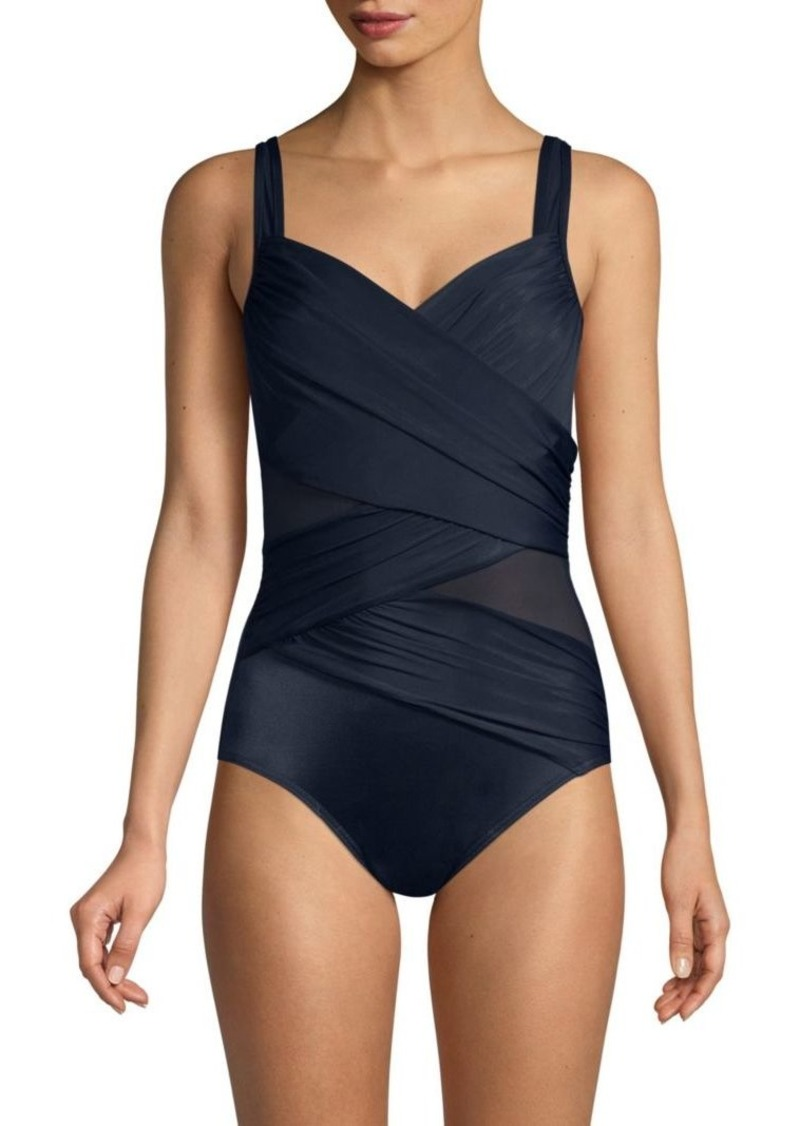 Miraclesuit Network Madero Ruched Criss Cross One-Piece Swimsuit