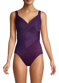Miraclesuit New Revelations Revele Solid Knotted-Front One-Piece