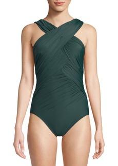 Miraclesuit Novel Idea One-Piece Crisscross Swimsuit