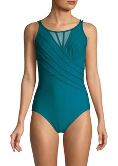 Miraclesuit One-Piece Mesh-Paneled Swimsuit