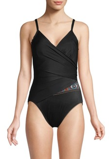 Miraclesuit One-Piece V-Neck Swimsuit