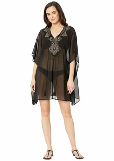 Miraclesuit Petal to the Metal Embellished Caftan Cover-Up
