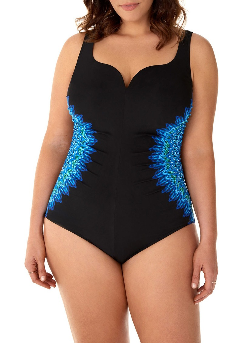 Miraclesuit Plus Size Knit Pick Temptress One-Piece Swimsuit