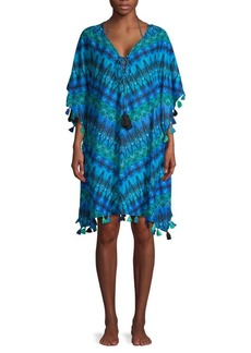 Miraclesuit Printed Self-Tie Cotton Coverup