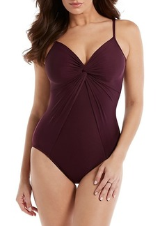 Miraclesuit Rock Solid Love Knot One-Piece Swimsuit