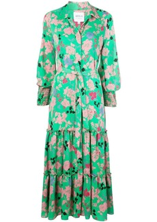 Misa Esmee Peony-print shirt dress