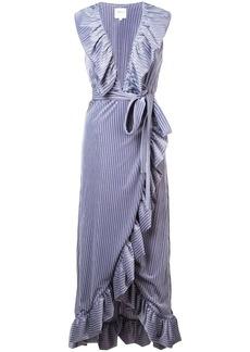 Misa frill trim wrap dress