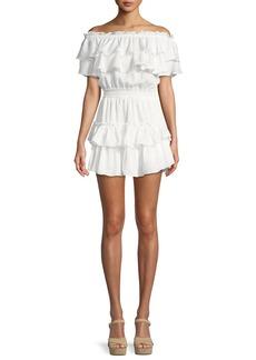 Misa Giada Off-the-Shoulder Ruffle Dress