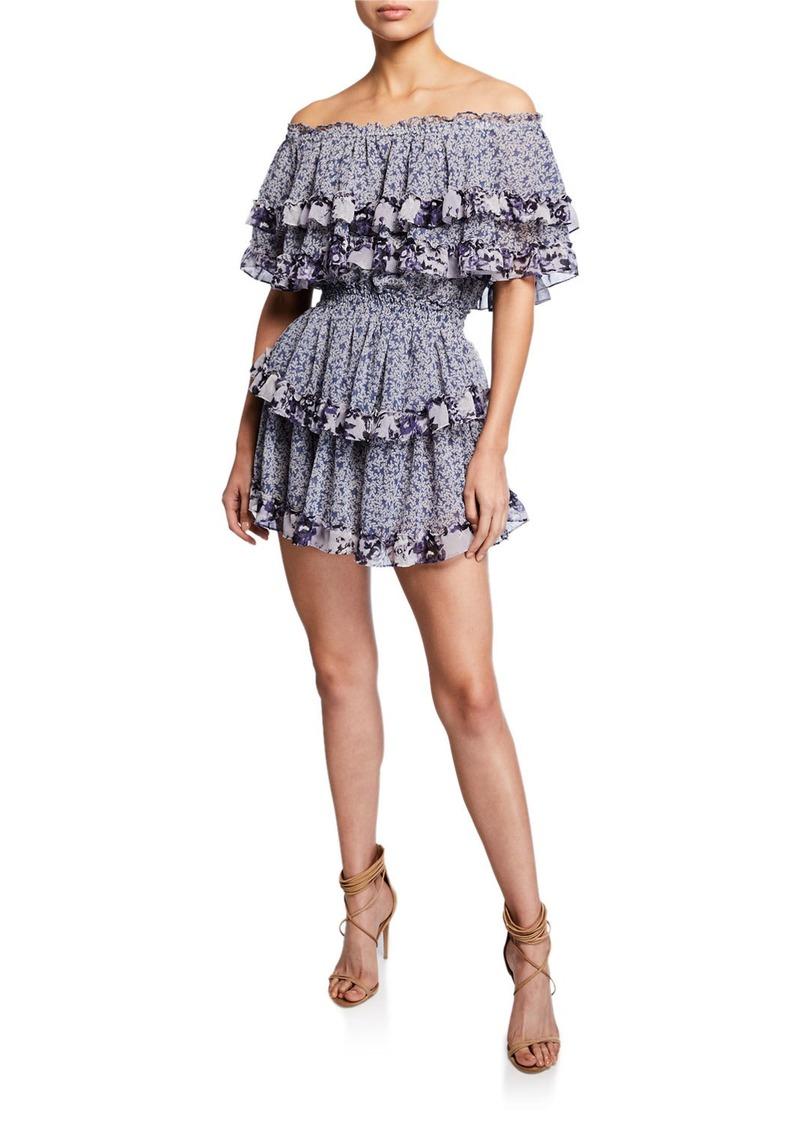f1159dc85867 Misa Kailey Off-Shoulder Ruffle Mini Dress