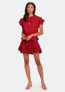 Misa Lilian Flutter Sleeve Dress - S - Also in: L, M, XS