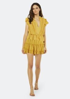 Misa Lilian Flutter Sleeve Dress - S - Also in: XS, M, L