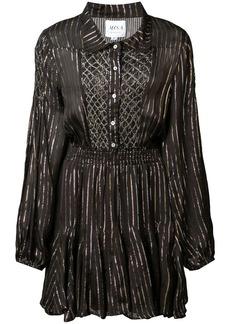 Misa lurex stripe mini dress
