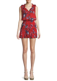 Misa Milaya Ruffle Floral Mini Dress