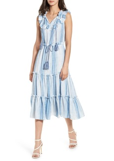 MISA Los Angeles Aleja Stripe Midi Dress
