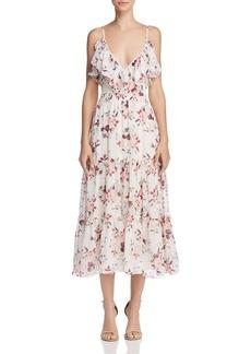 MISA Los Angeles Aviana Floral Midi Dress