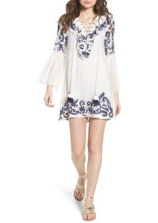 MISA Los Angeles Cyrielle Embroidered Dress
