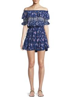 Misa Darcil Floral Off-the-Shoulder Ruffle Dress