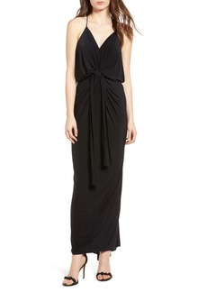 MISA Los Angeles Domino Knot Maxi Dress