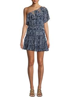 Misa Ezri Off-the-Shoulder Printed Mini Dress